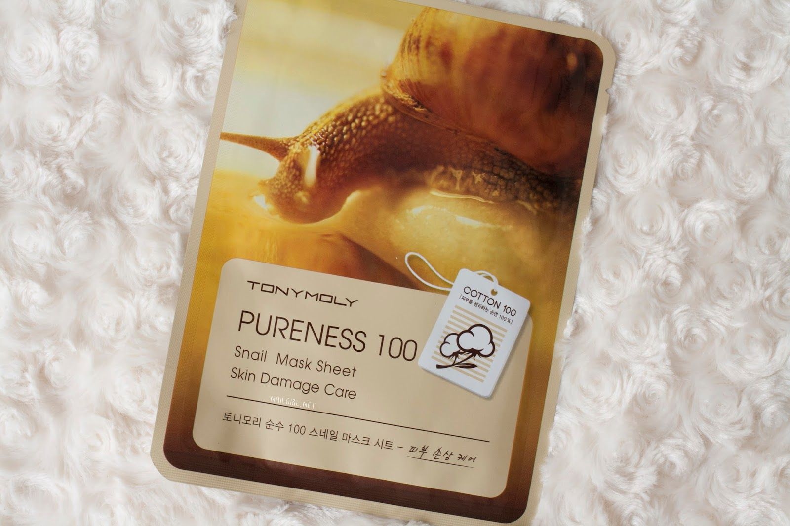 tonymoly pureness 100 snail mask review packaging