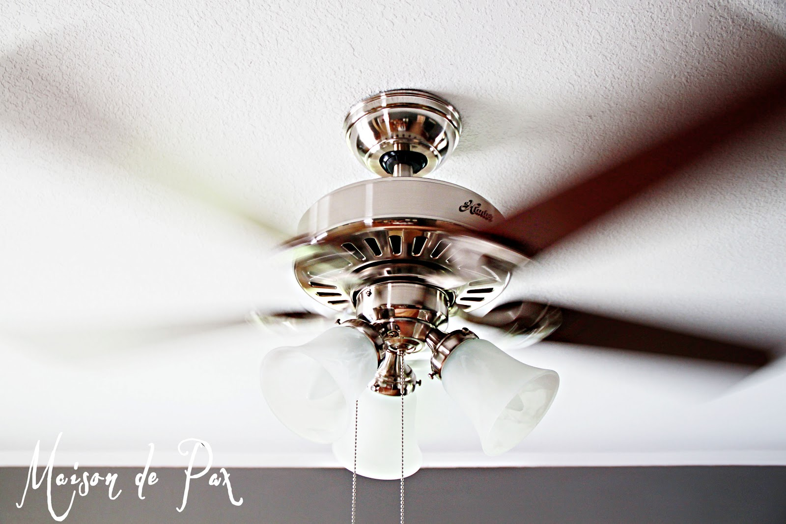 Pretty White Ceiling Fans: What A Difference A Fan Makes...