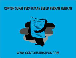 Gambar untuk Contoh Surat Pernyataan Belum Pernah Menikah