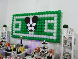 decoração mickey futebol