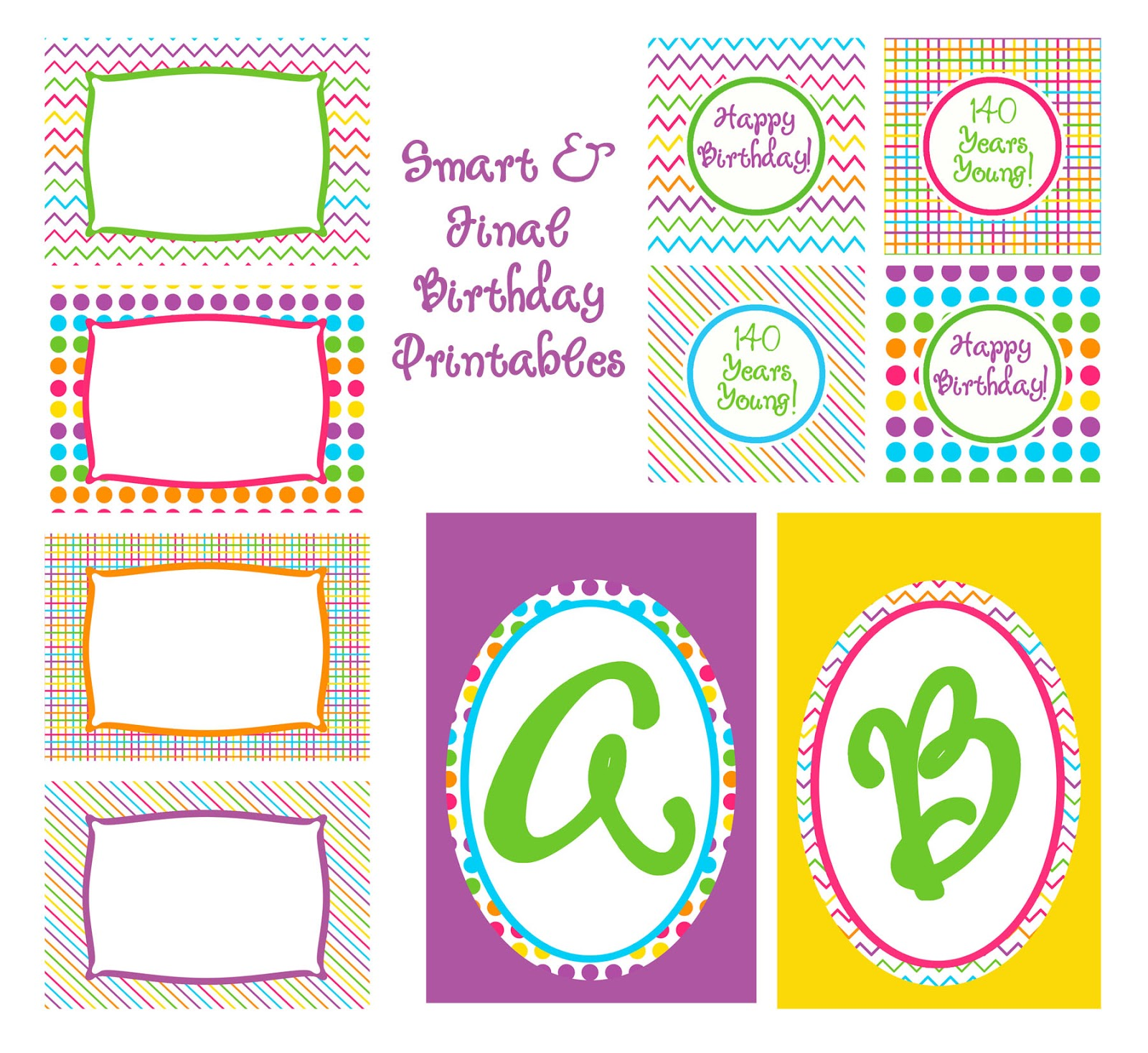 Laine Design: {More Free Rainbow Party Printables}