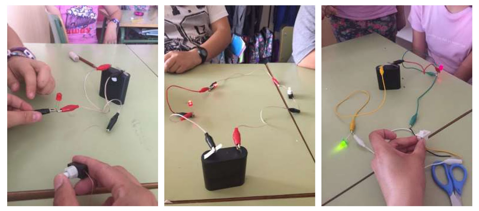 Intercambio De Ciencia Alcobendas Series And Parallel Electronic Simple Circuits Battery Switch Different Led Light Bulb Sizes I Gave Them The Equipment Im So Proud Of Because They Were Able To Create