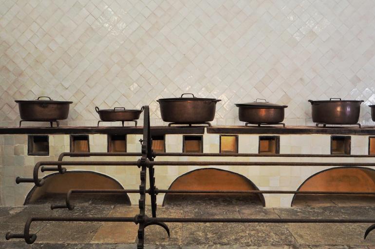 Cuisine du palais de Sintra près de Lisbonne