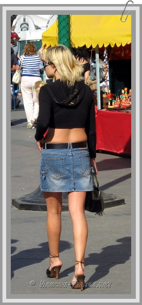 Moscow Girl In Jean Skirt