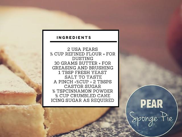 Pear Sponge Pie Recipe - Chef Amrita Raichand Pear Sponge Pie Recipe
