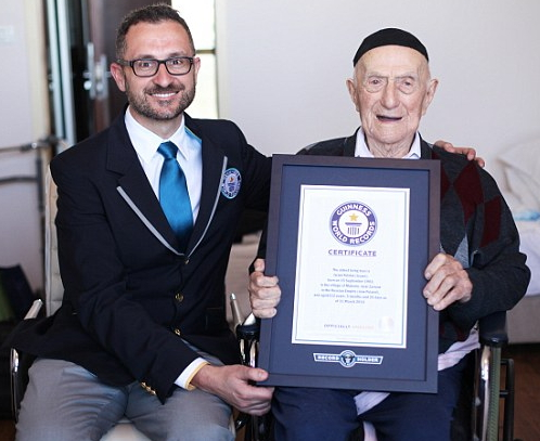 Yisrael Kristal guinness world records