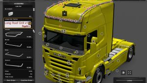 Long Roofgrill for Scania RJL & T V 1.0