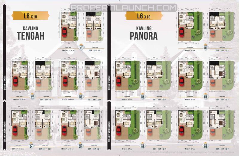 Denah Lantai Tipe 6x10 Boston Village Serpong