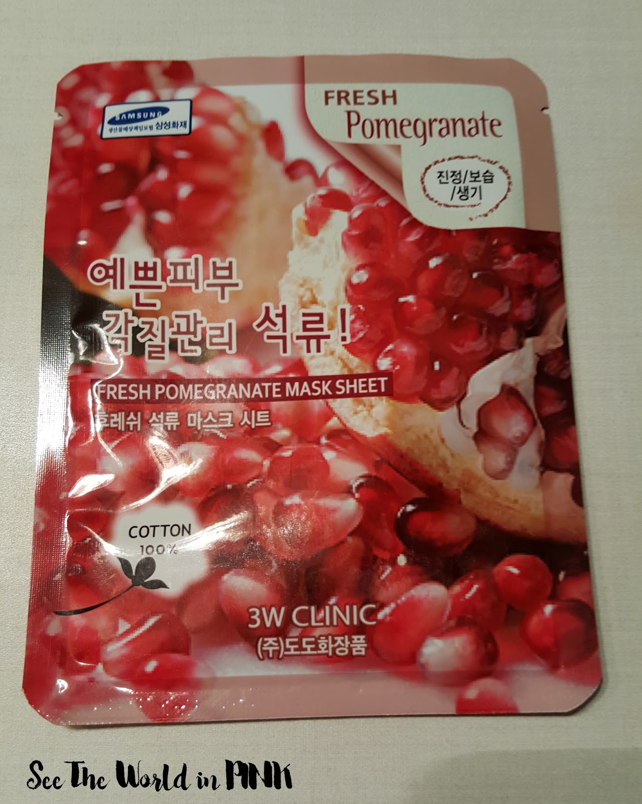 3w clinic fresh pomegranate mask sheet