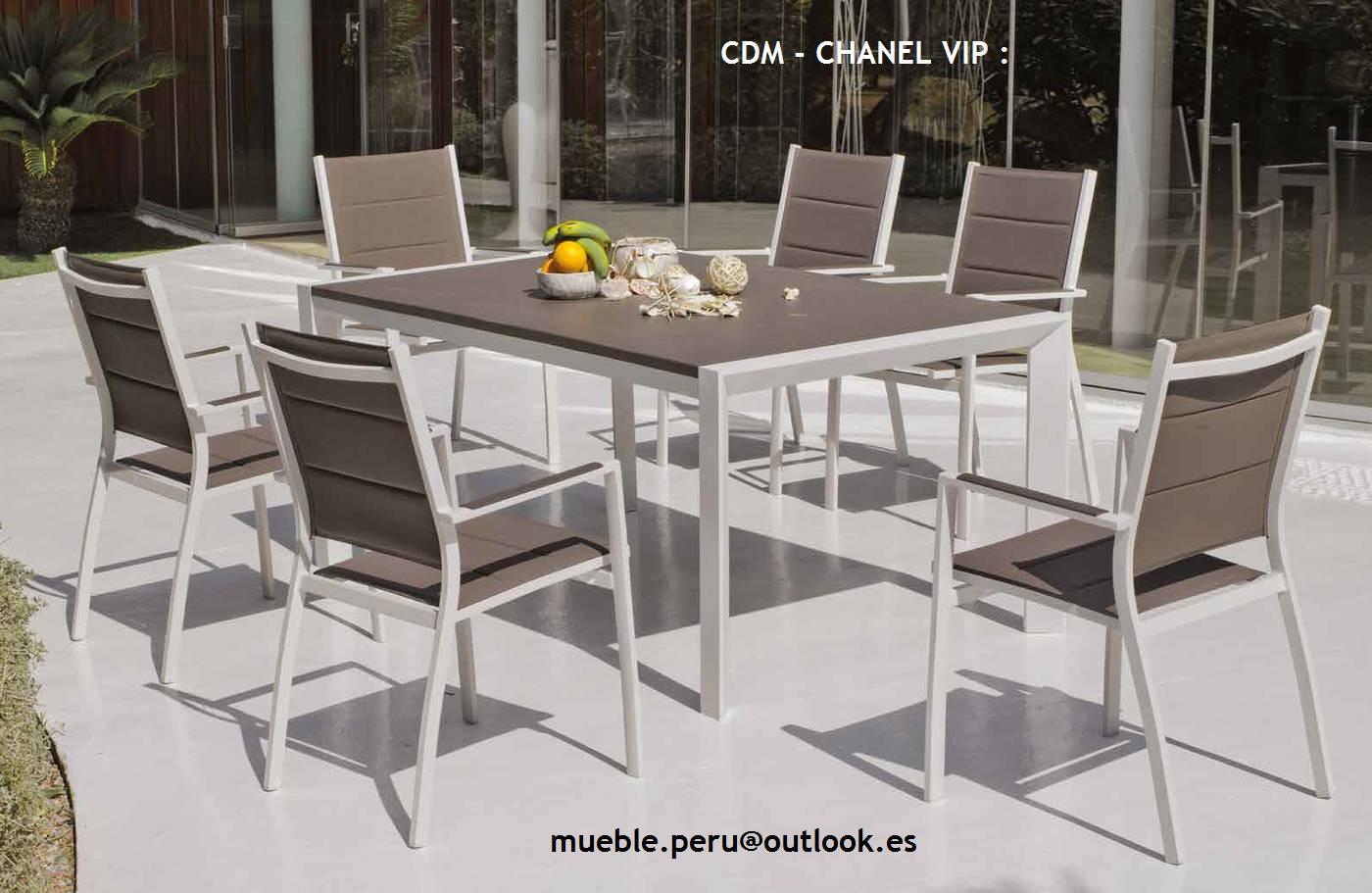Mueble Peru Sakuray: COMEDOR DE TERRAZA : CDM - CHANEL VIP