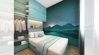 Bedroom Interior Rumah Cendana Homes Tipe Park Villa (2)