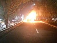 Ini Kejanggalan Mobil Terbakar di Lokasi Tablig Akbar Habib Rizieq