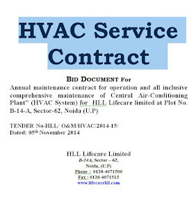 Hvac Service Contract Form Template Doc All Contracts In