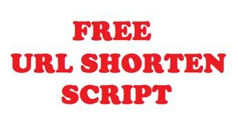 URL Shorten Script Free Download