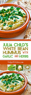 Julia Child's White Bean Hummus with Garlic and Herbs found on KalynsKitchen.com