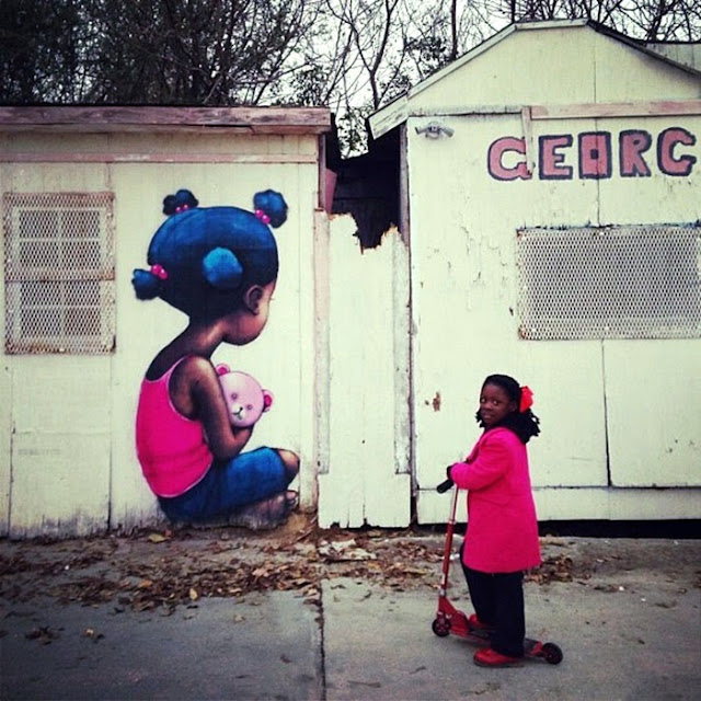 Street Art By French Artist Seth For The Museum Of Public Art In Baton Rouge Louisiana. 4