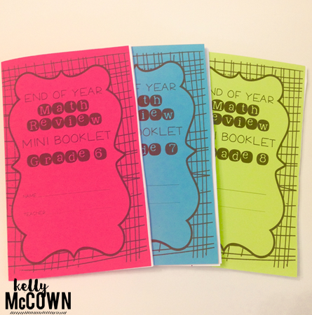Kelly McCown: End of Year Math Review Mini Booklets