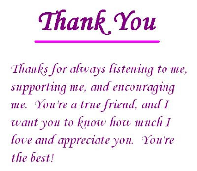 Thanks Quotes For Best Friend