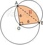 Luas juring dan tembereng dalam daerah irisan dua lingkaran
