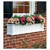 Lexington Window Box with Hanging Brackets, 4'L, in White