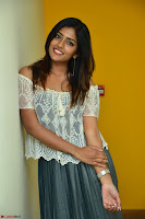 Eesha in a cute deep neck top and Skirt at at Big FM 099.JPG