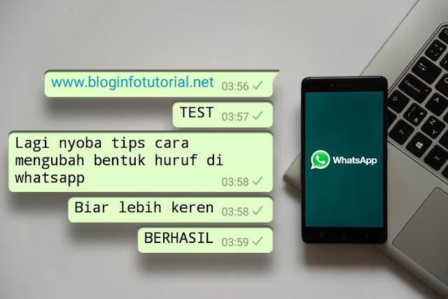 Cara Mengubah Bentuk Huruf di Whatsapp Tanpa Aplikasi Lain