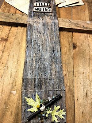 Sara Emily Barker http://sarascloset1.blogspot.com/ Field Notes Mini Album 3D Texture Fade Lumber 4