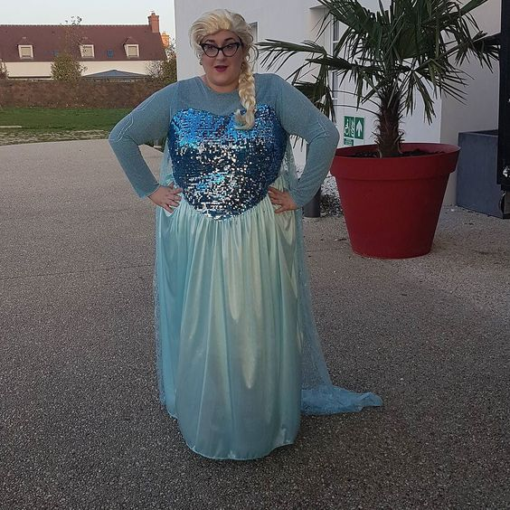 Elsa Fancy Dress plus size Costume