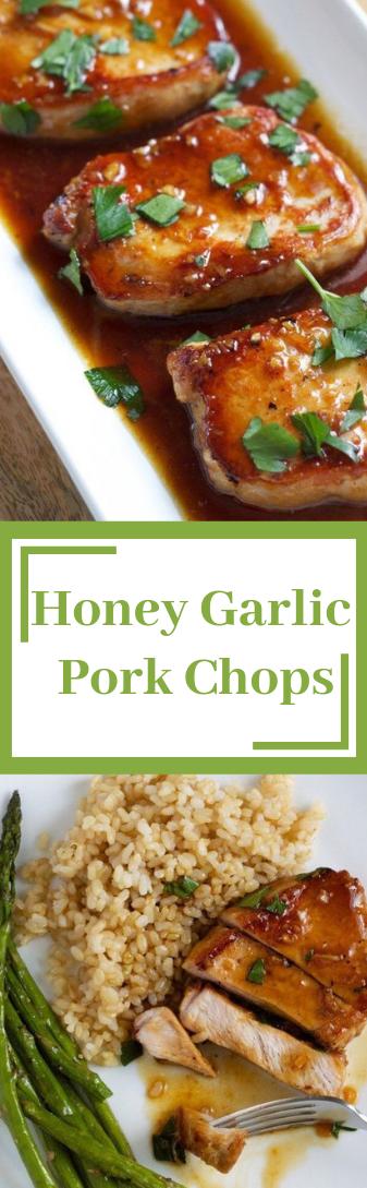 Honey Garlic Pork Chops #dinner #dinnerfood #lunc #partyfood