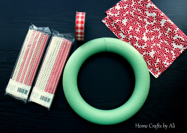 christmas holiday wreath decor DIY supplies