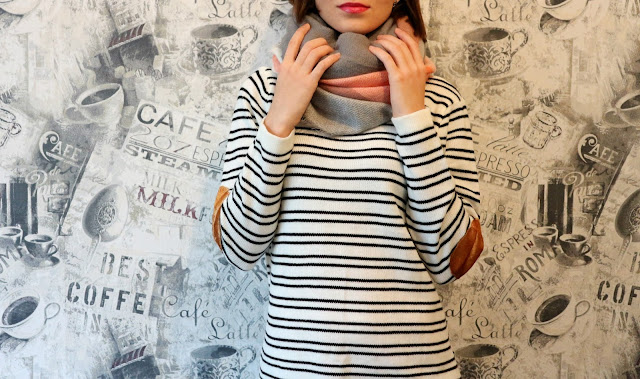 Trendy Patchwork Design Striped Sweater review