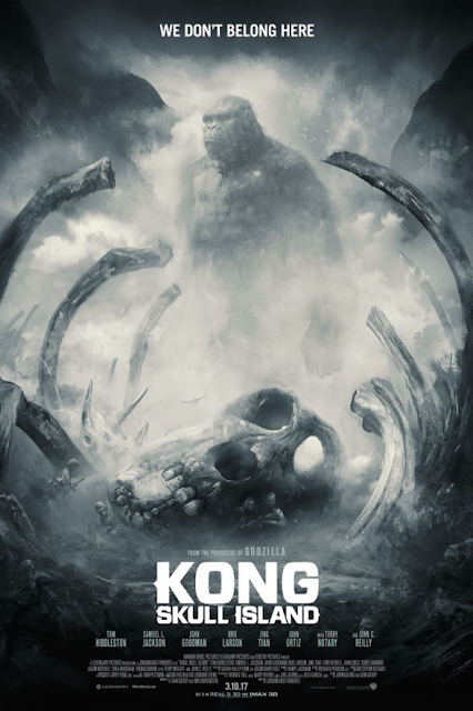 "Kong: Skull Island ""We Don't Belong Here"" Screen Print by Karl Fitzgerald x Bottleneck Gallery"