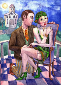 NATASHA SAZONOVA - 1920s ROMANTIC ILLUSTRATION