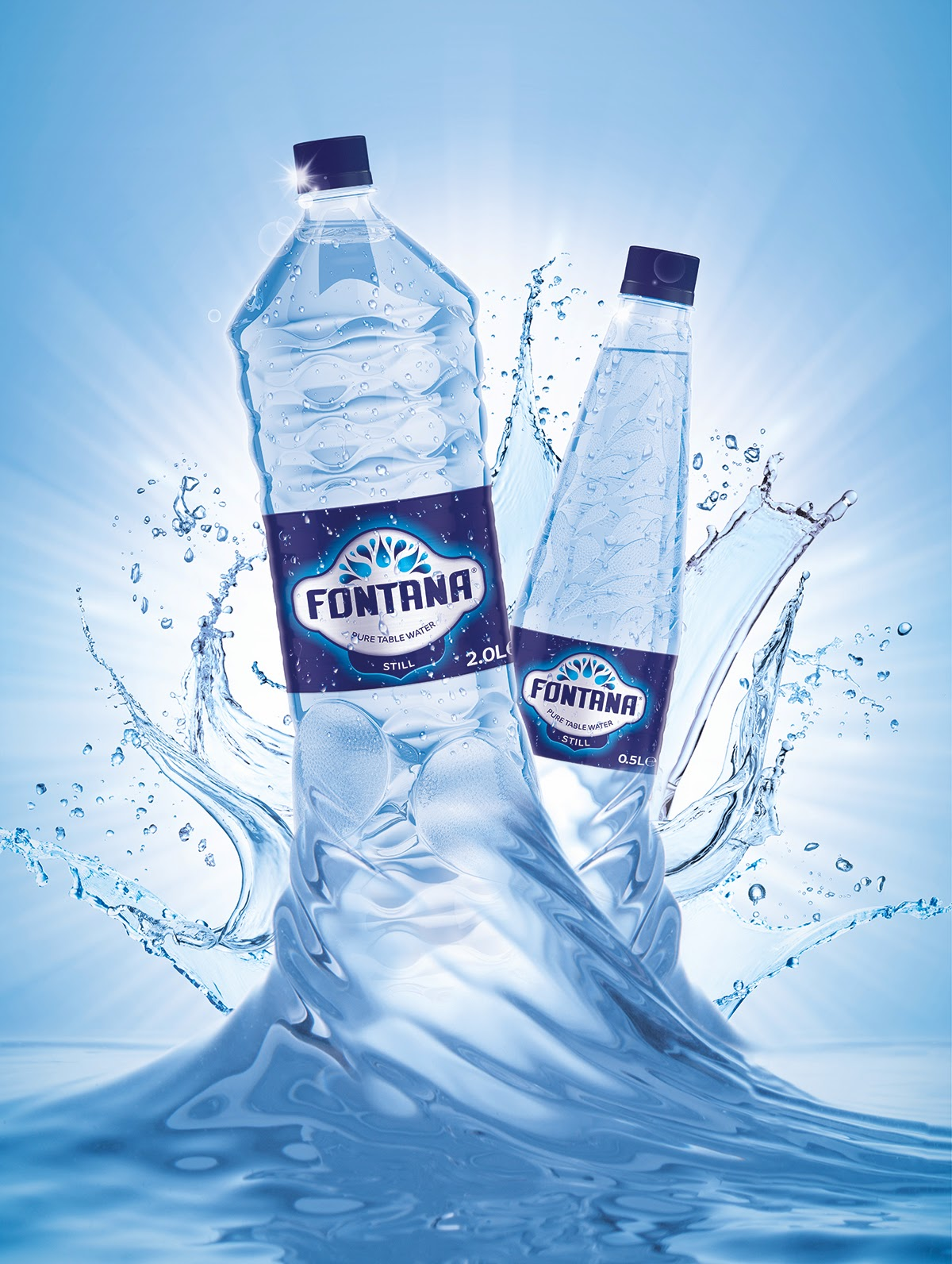 fontana pure table water on packaging of the world