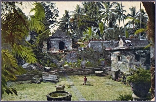 Grounds of the Taman Sari Water Castle. Water Castle at Yogyakarta Ca.1910
