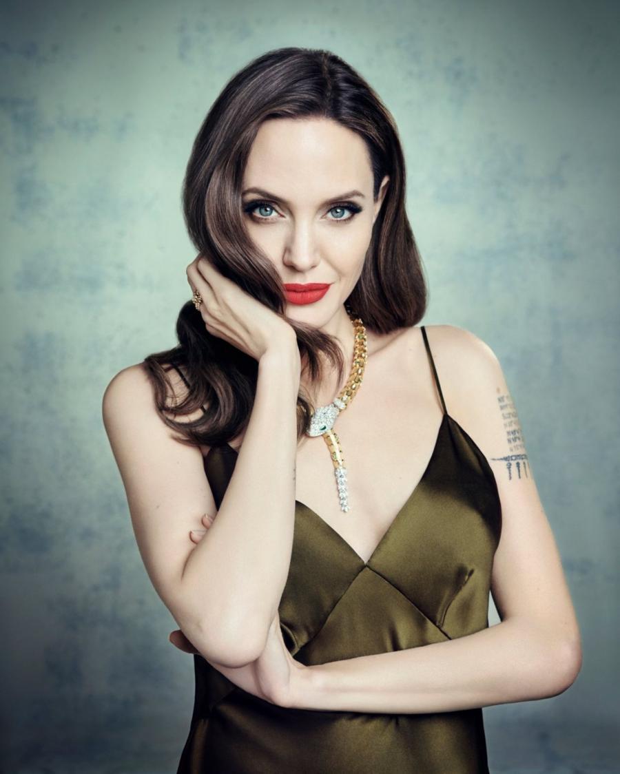 American Model Angelina Jolie Photoshoot October 2019