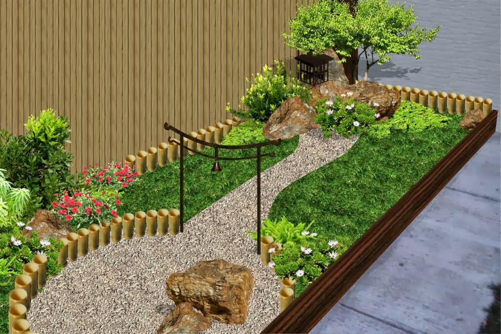 Dise os 2d de jardines fotos renders sobre varias for Jardines pequenos para exteriores