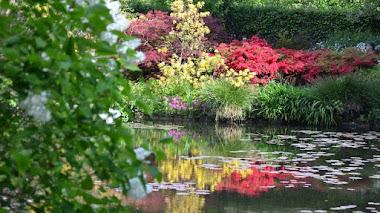 Los jardineros del Jardín de Monet en Giverny