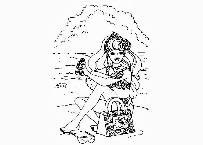 Beach Coloring Pages - Beach Scenes & Activities | 500x700