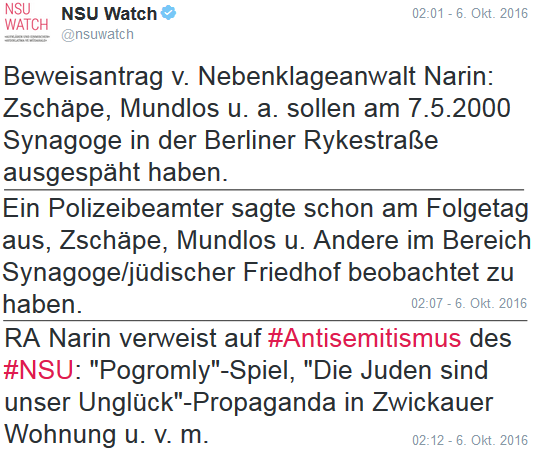 161006 nsuwatch zschäpe synagoge
