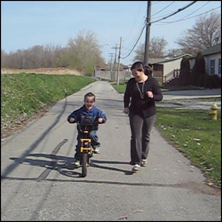 Eli on a two-wheeler