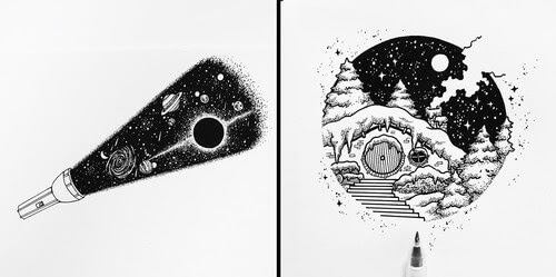 00-Ink-Drawings-Stephanie-Mai-www-designstack-co
