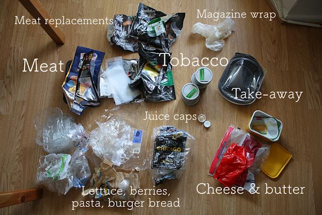 The household plastic waste in week 3