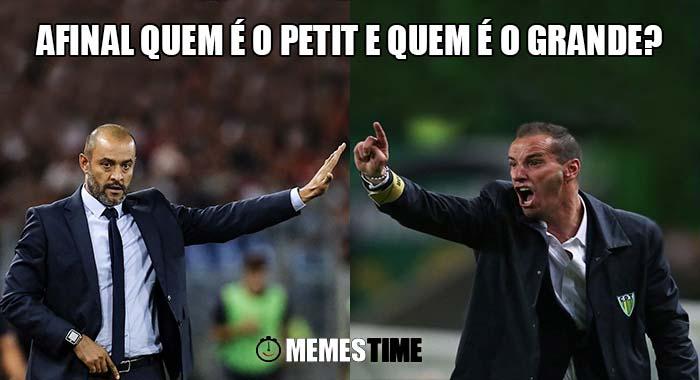 Memes Time, a bola rola e faz rir - Duelo Petit vs Nuno na Liga NOS: Espírito Santo Tondela 0 Porto 0 – Afinal quem é o Petit e quem é o Grande?