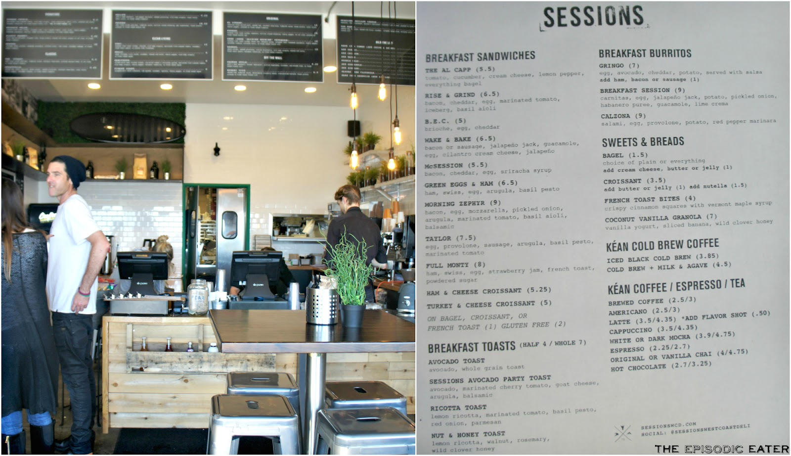 Sessions West Coast Deli (Huntington Beach, CA) - New Breakfast Menu! on The Episodic Eater