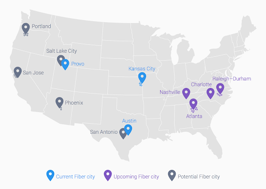 Google Fiber is coming to Atlanta, Charlotte, Nashville and Raleigh-Durham