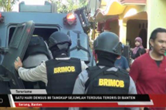 Rumah Guru SMP Terduga Teroris di Geledah Densus 88