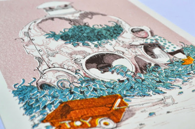 """Pixel Pancho """"Mechanical Revolution"""" Limited Edition Riso Print 3"""