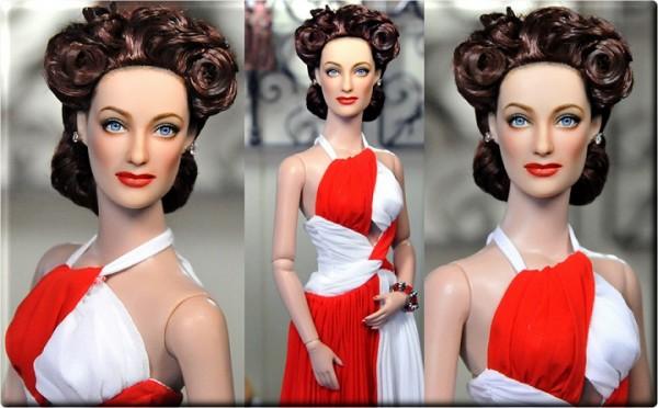 Muñeca o figura de acción con increíble parecido Joan Crawford