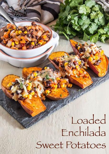 Loaded Enchilada Sweet Potatoes